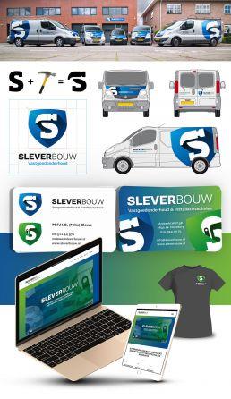 logo ontwerpen en huisstijl voor sleverbouw vastgoedonderhoud en installatietechniek uit nootdorp