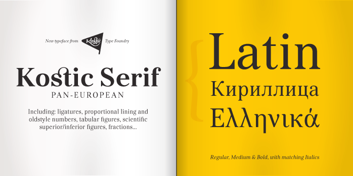 lettertype kostic serif