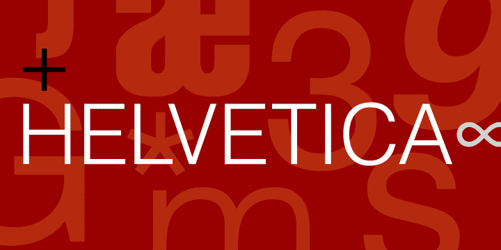 lettertype helvetica