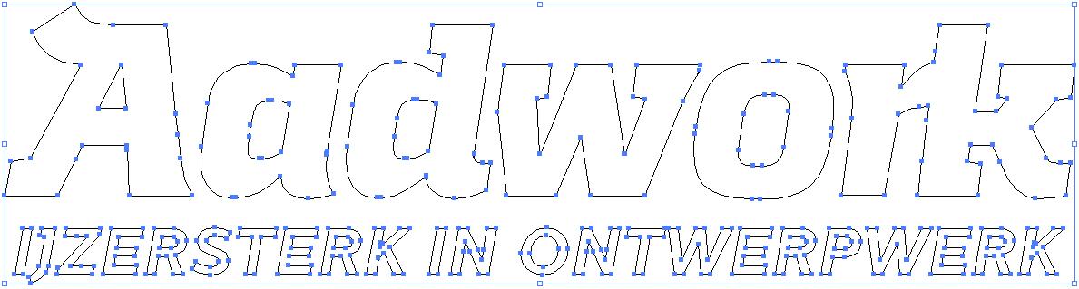 logo aadwork afgebeeld in vectoren in adobe illustrator