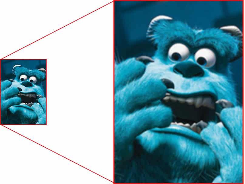 pixel-afbeelding 200% vergroot