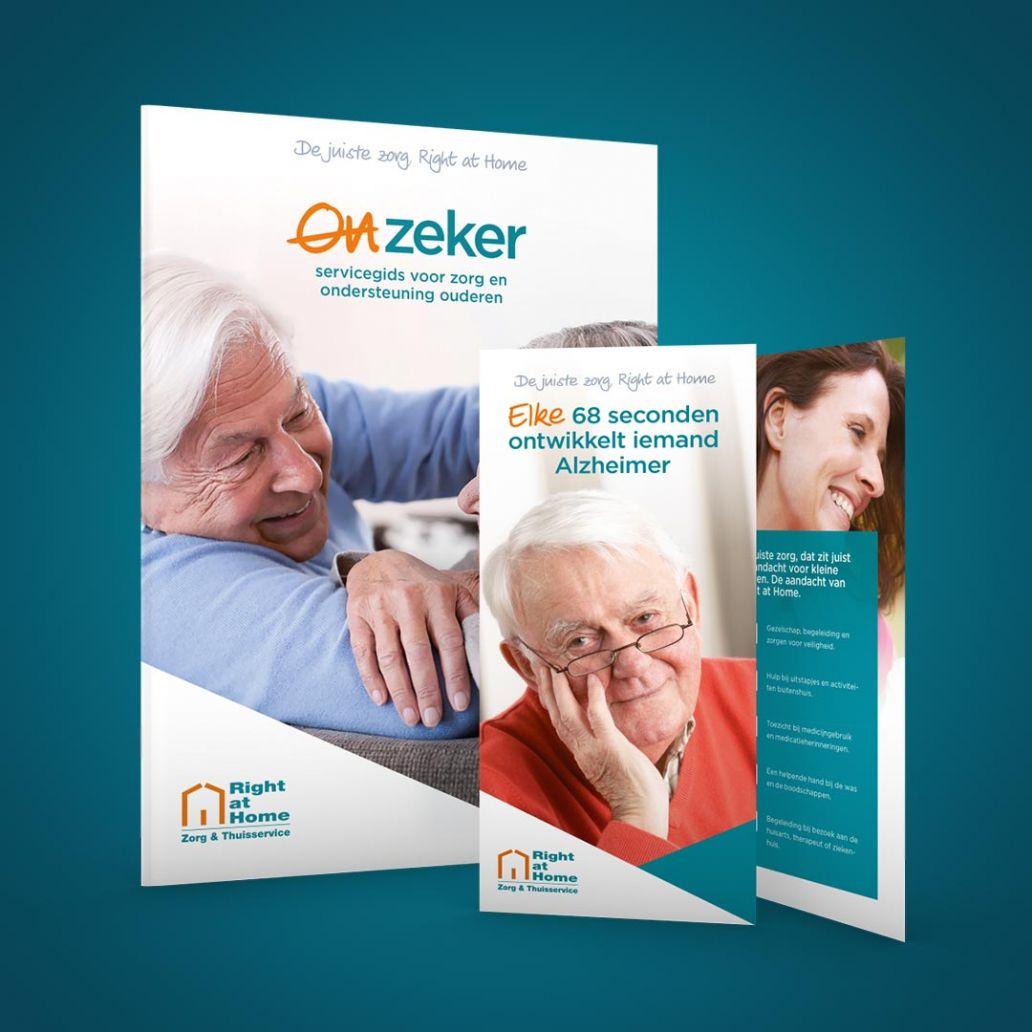 brochure ontwerp en folder ontwerpen voor right at home nederland