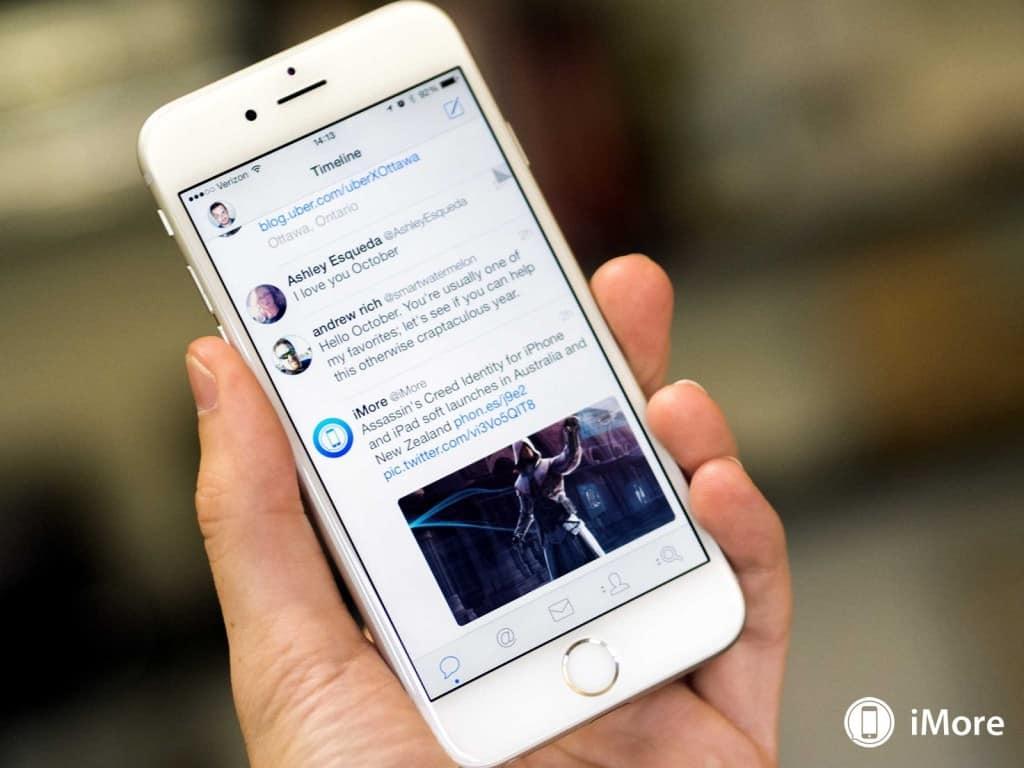 twitter app tweetbot3 op een iphone 6