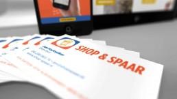 visitekaartjes ontwerp voor shop en spaar