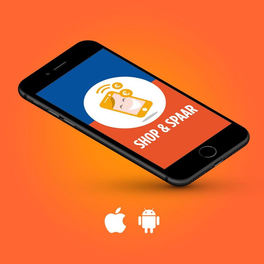logo ontwerp en huisstijl app shop en spaar