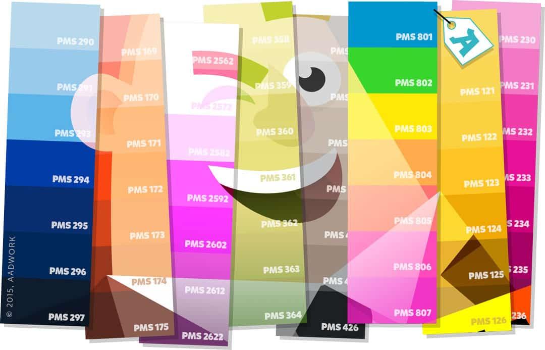 Kleur schema van drukwerk naar website kleuren - Kleur warme kleur cool ...