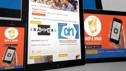 website ontwerp voor shop en spaar