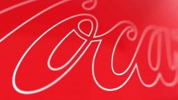 logo coca cola close up