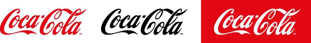 drie maal coca cola logo