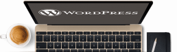 macbook met wordpress website