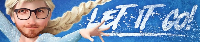 aad als elsa van frozen - let it go