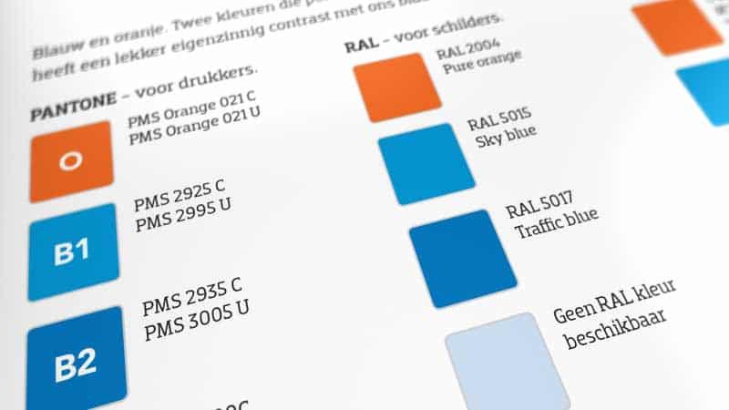 huisstijl ontwerp van coolblue is goed vastgelegd in een huisstijl document