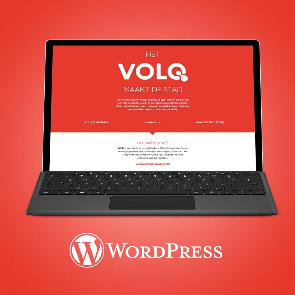 wordpress website ontwerpen voor volq
