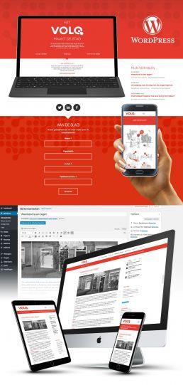 wordpress website maken voor volq