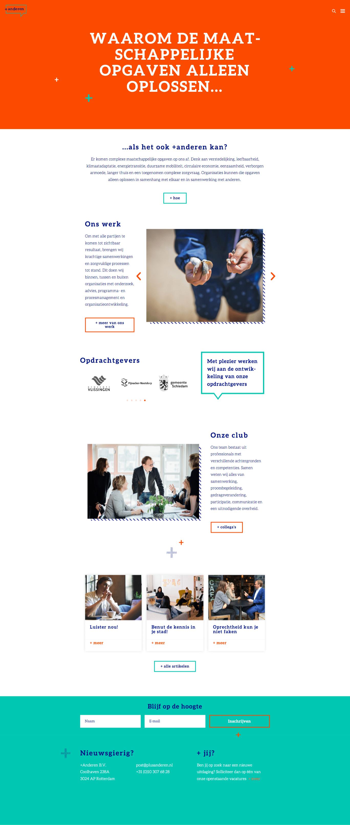 WordPress website anderen door Aadwork uit BINK36 Den Haag