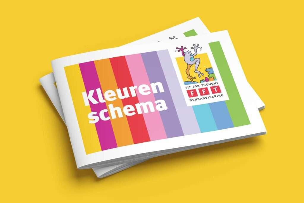 Huisstijl laten maken door Aadwork grafisch ontwerper in BINK36 kleurrijk zoals Fit For Thought