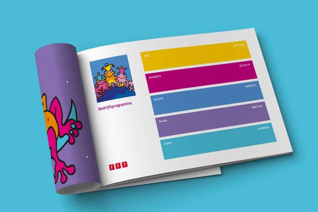 Huisstijl laten maken door Aadwork grafisch ontwerper in BINK36 kleurrijk zoals deze huisstijl van Fit For Thought