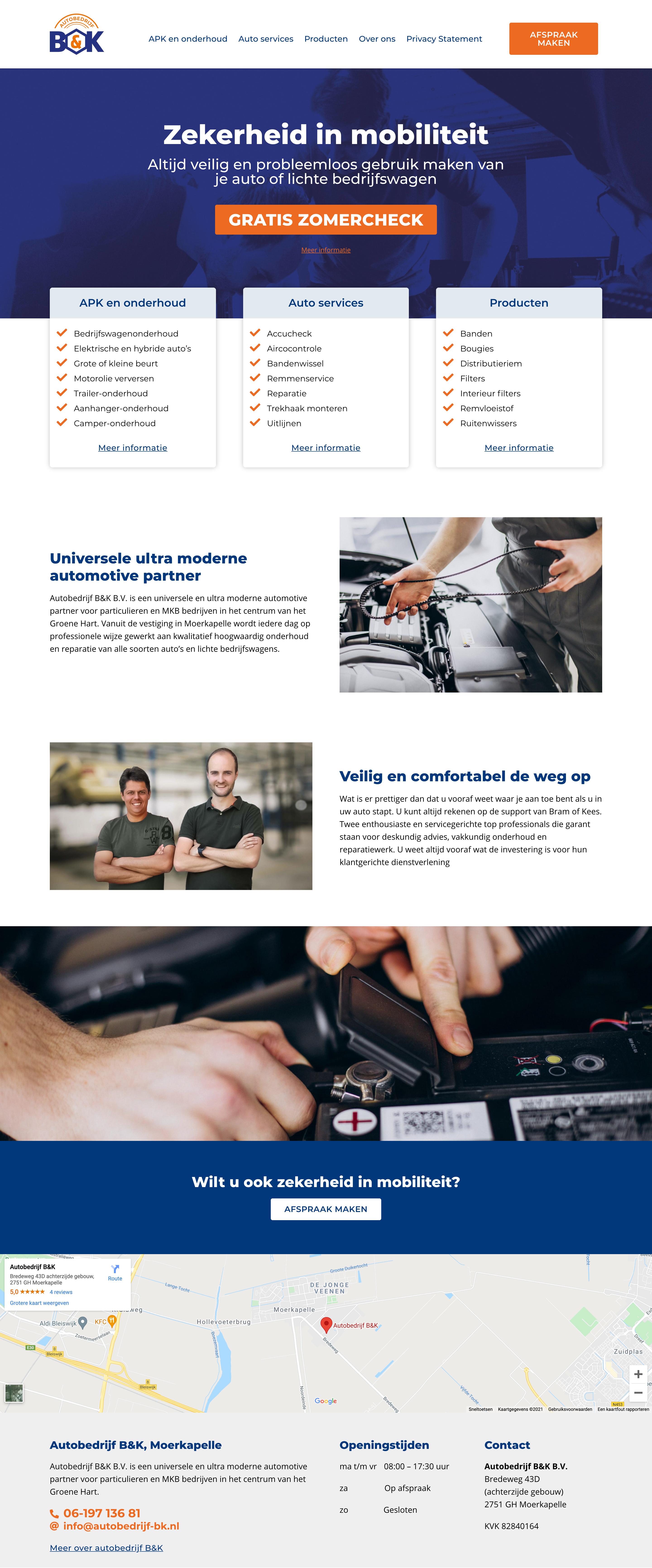 WordPress website voor autobedrijf BK