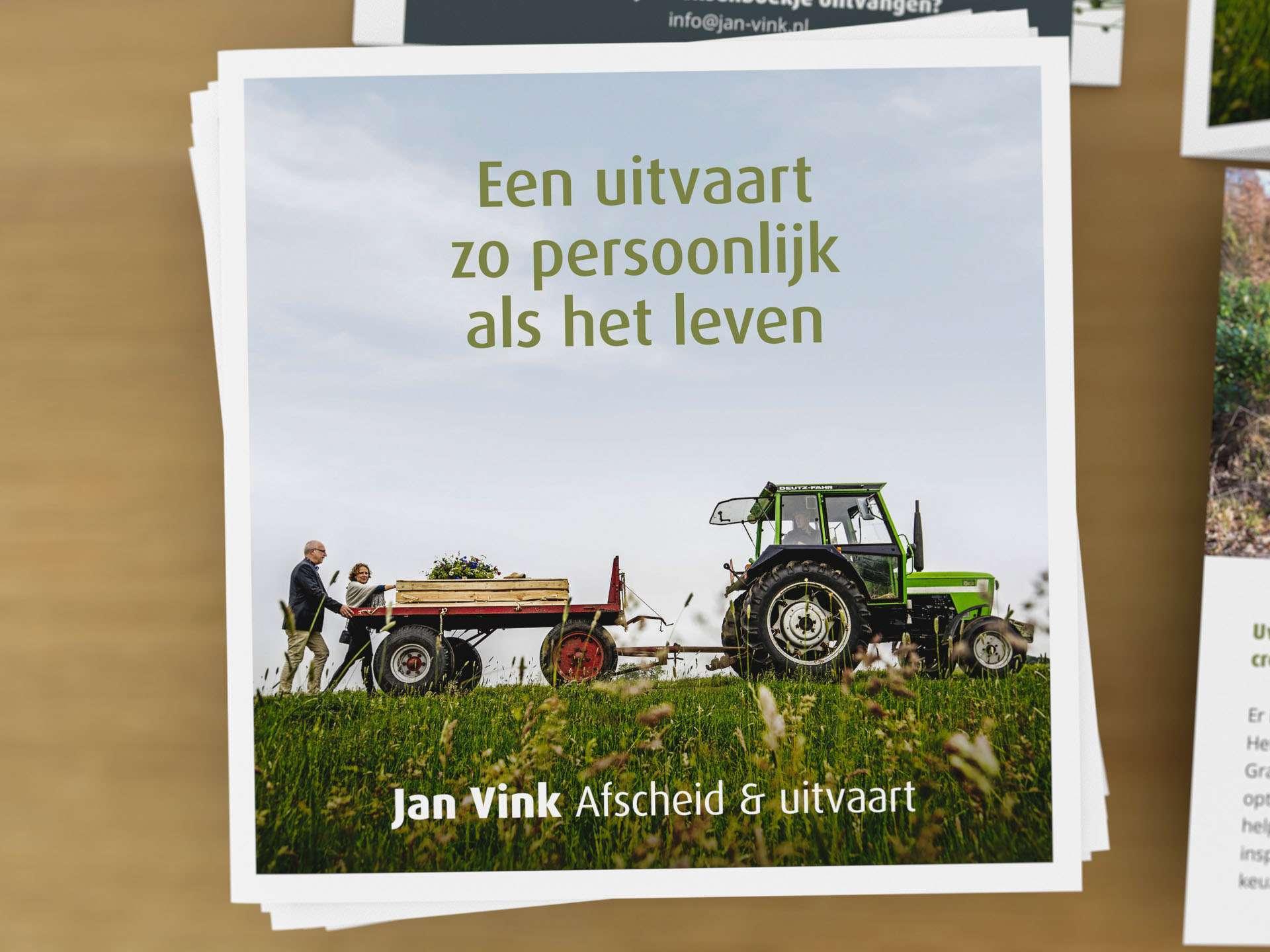 Folder laten ontwerpen zoals Jan Vink afscheid en uitvaart door Aadwork uit BINK36 Den Haag 6