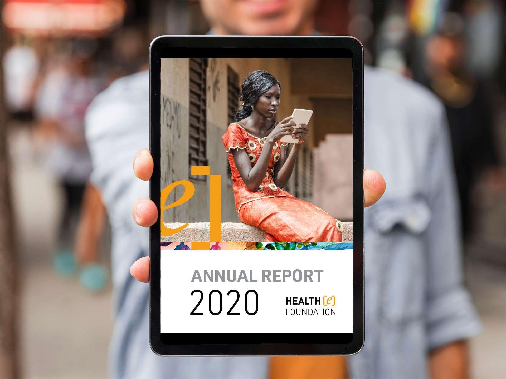 Jaarverslag laten maken zoals deze van HealtheFoundation door Aadwork uit BINK36 Den Haag